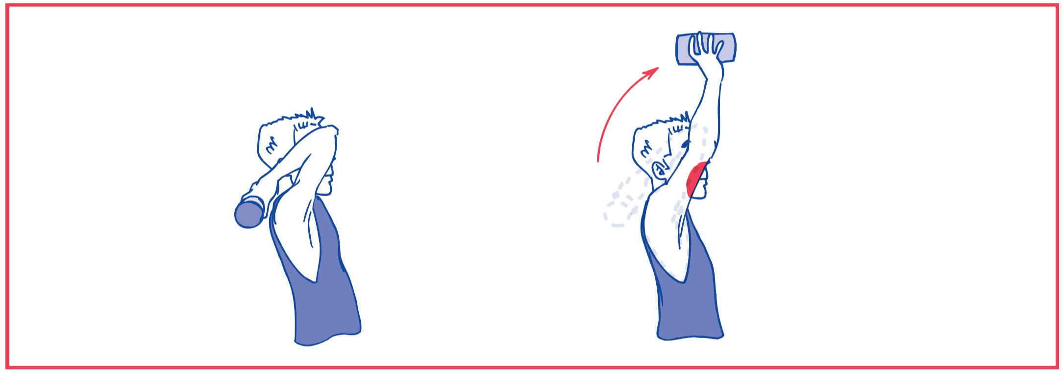 4. Elbow extension with resistance (weights)