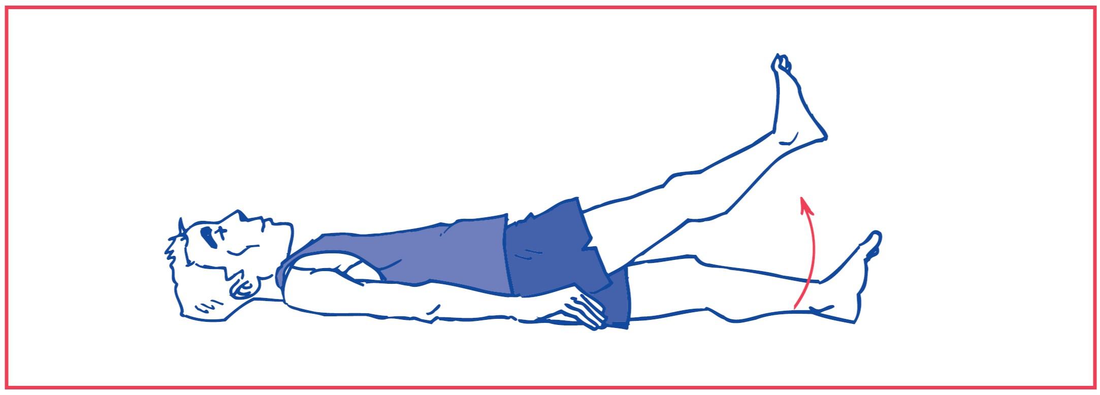 4. Hip flexion against gravity