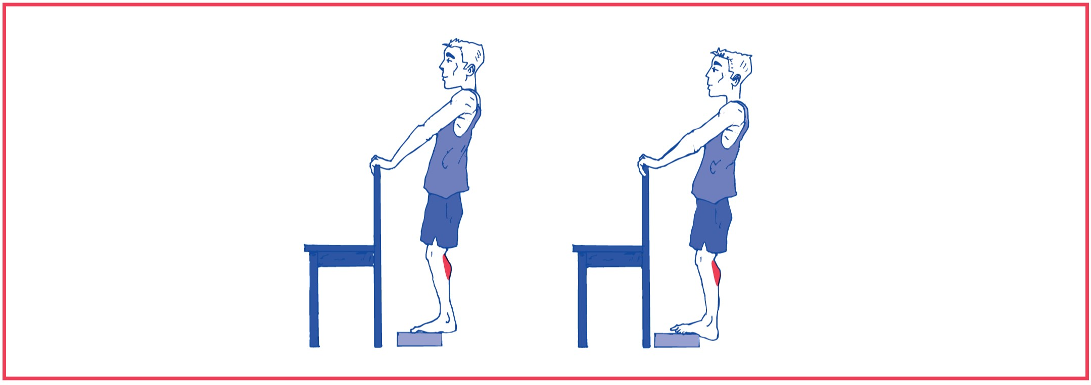 6. Stretching exercise for calf muscle
